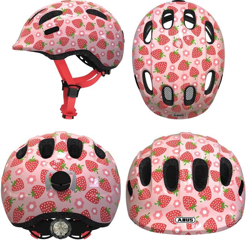 Abus Smiley 2.1 Kinderhelm Fahrradhelm  Jugendhelm rose strawberry M 50-55