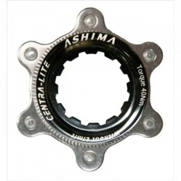 1 ASHIMA AC02 Ultralight Bremsscheiben-Adapter von 6-Loch auf Center Lock gold