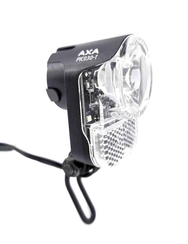 AXA PICO30 Tag Steady Auto LED Fahrrad-Scheinwerfer 30 Lux mit Tagfahrlicht