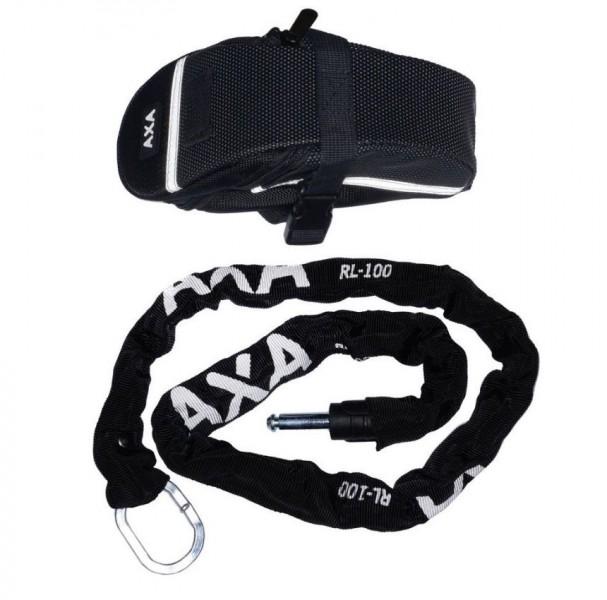 Axa Rlc 100 Plug In Einsteckkette Mit Schutztasche 100 Cm Schwarz