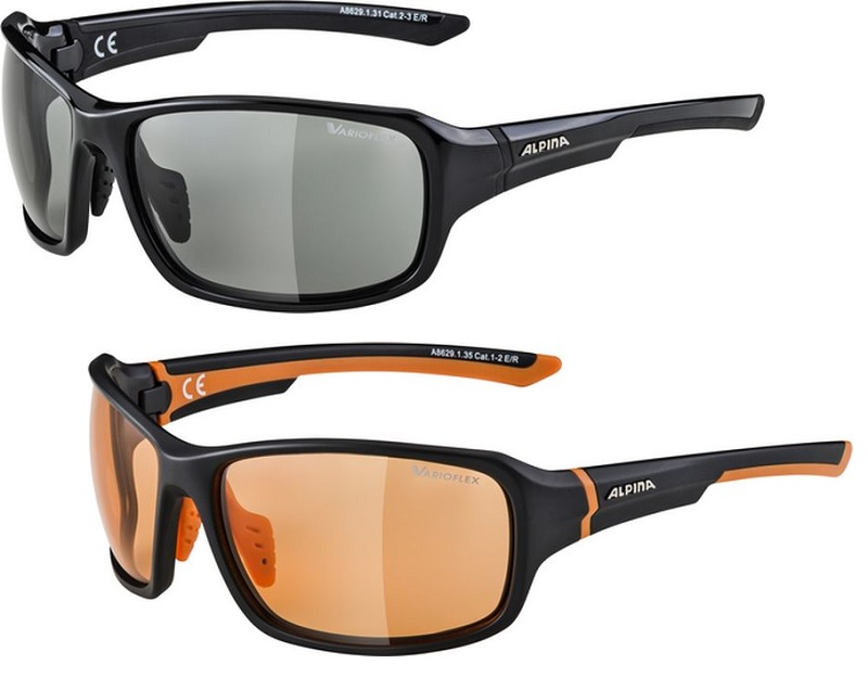 Alpina Lyron VL Fahrradbrille mit photochromatischem Varioflex Gläsern