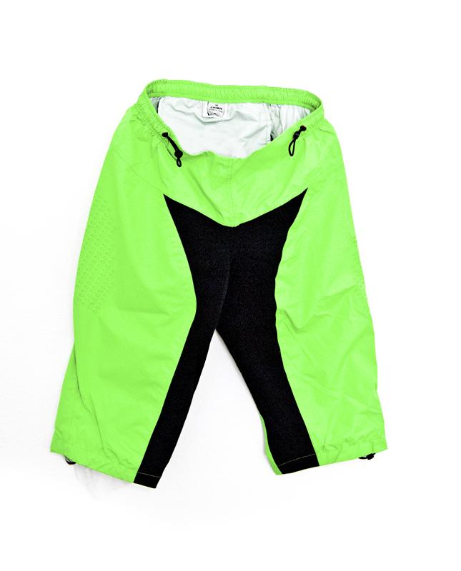 stylistisches Aussehen größte Auswahl an großer Rabatt Details zu CHIBA Fahrrad-Regenhose Shorts Kurz Neongrün Wasserfest  Gepolstert versch Größen