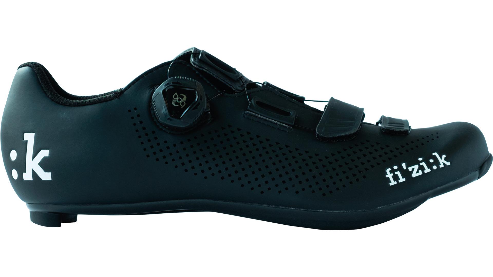 Details zu Fizik R4B Uomo Fahrrad Rennradschuh blackwhite mit Boa Drehverschlusssystem