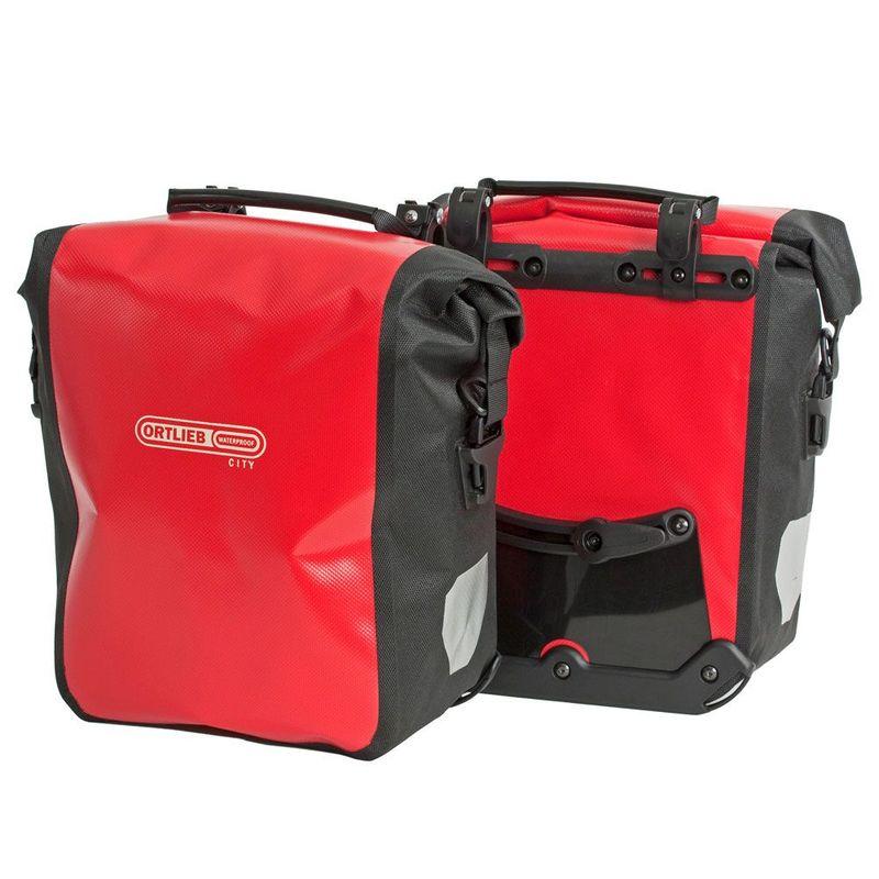 ORTLIEB Sport Roller City Gepäckträgertaschen im Paar 2x12,5 Liter wasserfest