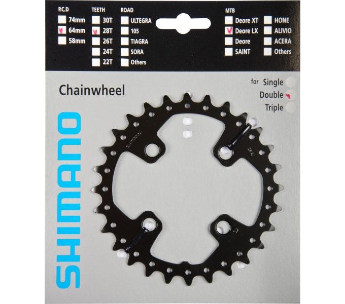 Shimano-Fahrrad-Kettenblatt-SLX-FC-M675-10-fach-2-fach-Zaehne-24-26-28-38-40