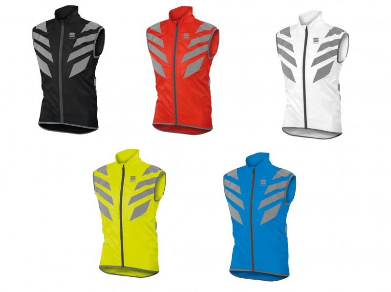 1101636 Sportful REFLEX Vest SPORT//BICI-Vento Gilet CON TASCHE BIANCO//ROSSO//GIALLO