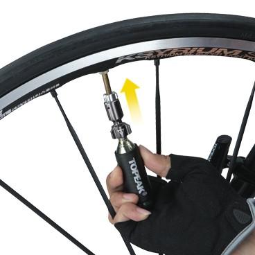 topeak micro airbooster co2 pumpe patronenpumpe inkl 1 patrone fahrrad silber ebay. Black Bedroom Furniture Sets. Home Design Ideas